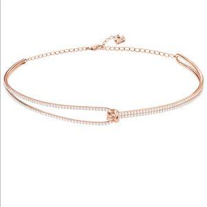 Swarovski gold choker crystal necklace